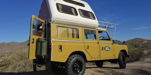 This 1971 Land Rover Dormobile is overland camping, retro-style