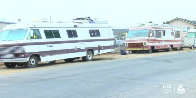 People living out of campers near Oceano and 17th Street still have not moved
